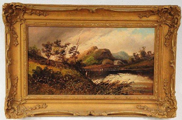 11: W.H. (British, 19th Century), Landscape with Figure
