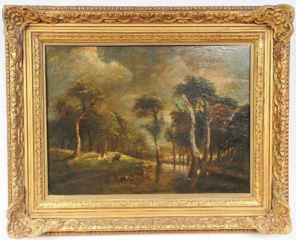 13: Artist Unknown, (18/19th Century), Forest Scene, Oi