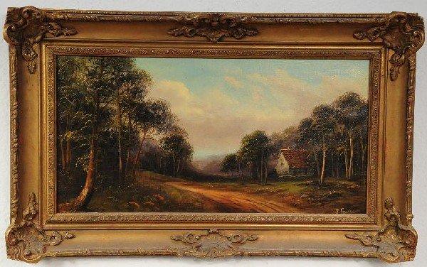 14: J. Fairbank (19th Century), Landscape with Cottage,