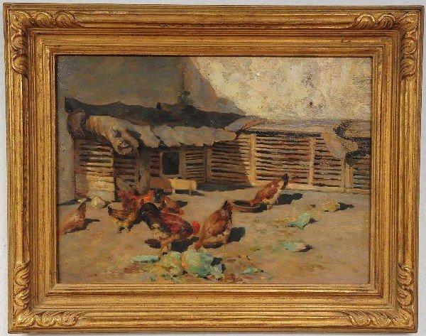 19: Giuspeppe Giardiello (Italian, 1887-1920), Farm Sce