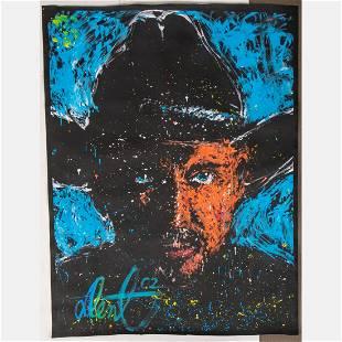 Denny Dent (American, 1948-2004) Portrait of Garth