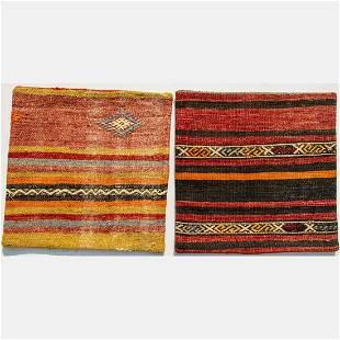 Two Hand Woven Turkish Kilim Pillows, 21st Century