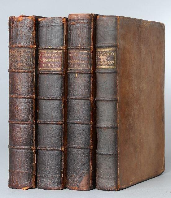 8: BLACKSTONE, William (1723-1780). Commentaries on the