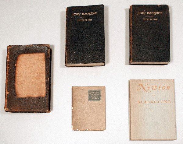 12: [BLACKSTONE, William]. A group of 5 volumes relatin