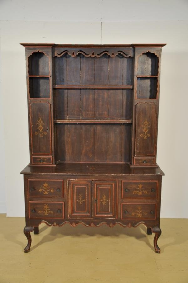 3: A Mahogany Welsh Dresser with Painted Decoration, 20
