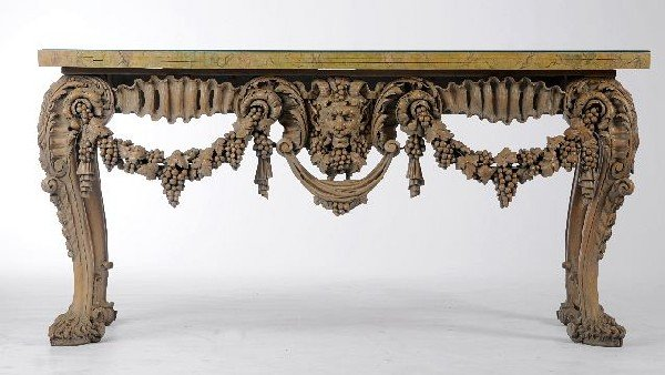 4: A Rococo Style Carved and Painted Console Table, 20t