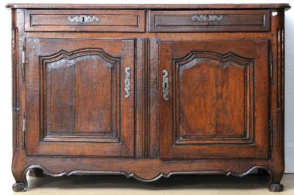 10: A French Provincial Walnut Two Door Buffet, 18th /