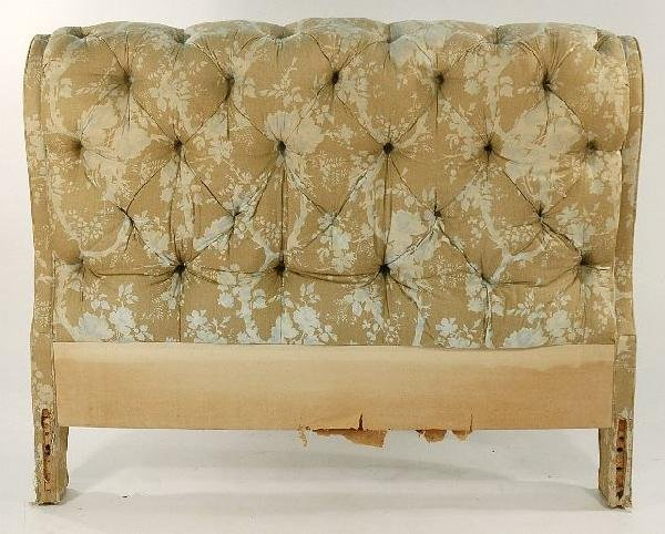 13C: A Louis XV Style Upholstered Full Size Bed, 20th C