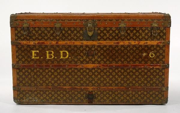 14A: A Large Louis Vuitton Steamer Trunk, 20th Century.