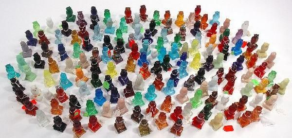 168: A Large Collection of 158 Degenhart Glass Owl Pape