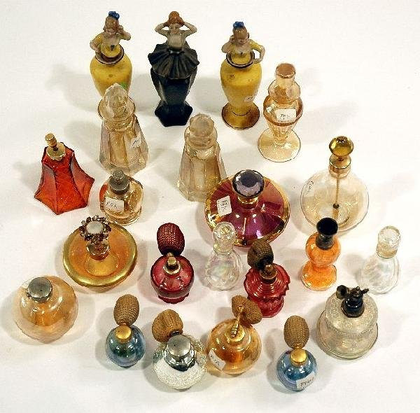 170: A Miscellaneous Collection of Colored Glass Perfum