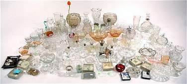 178 A Miscellaneous Collection of Pressed Clear Glass