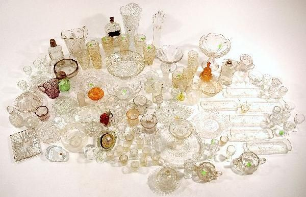 187: A Miscellaneous Collection of Pressed Clear Glass