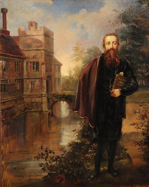 7: Arthur Dering (19th Century), Philosopher, Oil on Ca