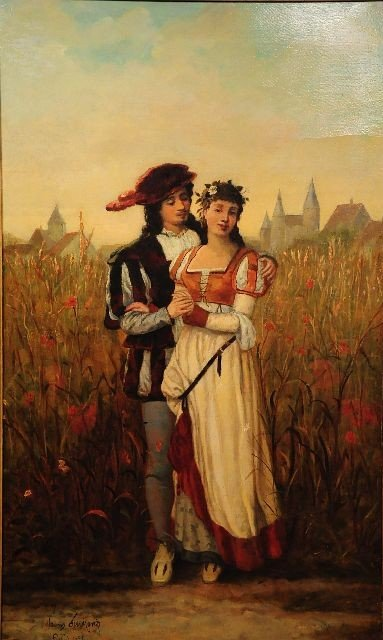 9: Francois Dumont (Belgian, 19th Century), The Lovers,