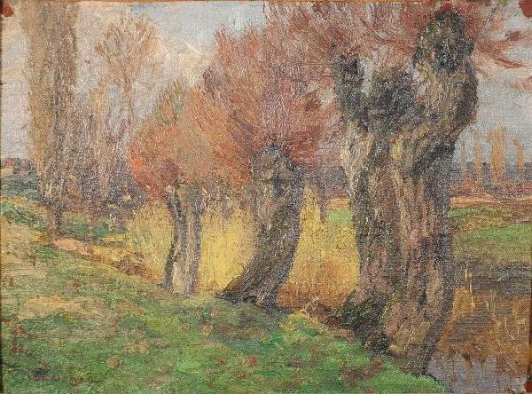 16: Wilhelm Nagel (German, 1866-1944) Landscape, Oil on