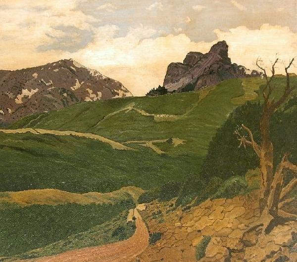 17: Artist Unknown (20th Century) Mountain Landscape, O