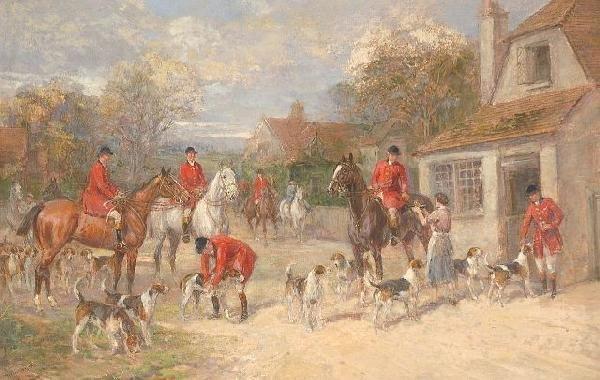 20: Heywood Hardy (British, 1842-1933) A Hunting Mornin