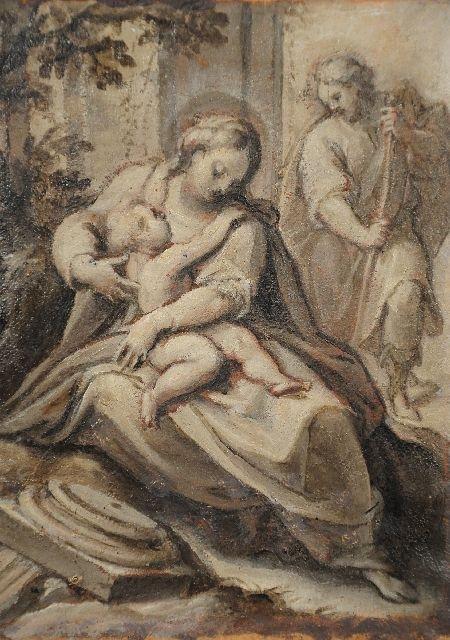 21: Attributed to Belisario Corenzio (1506-1643) Study