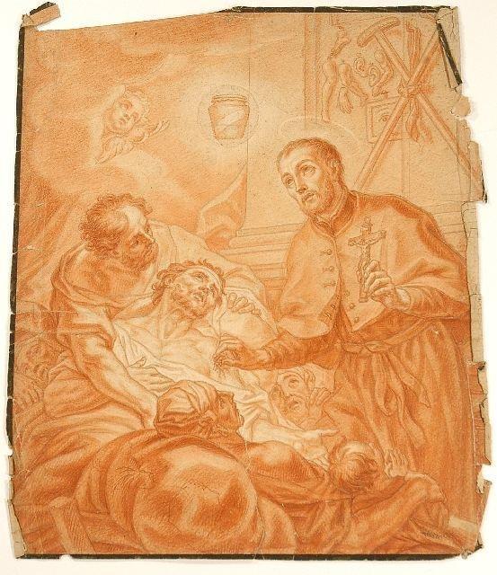 23: Johann Evangelist Holzer (1709-1740) Allegorical Sc