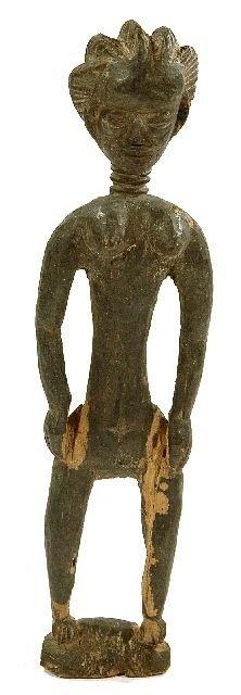 2: A Wood Standing Female Figure, Mende, Sierra Leone,