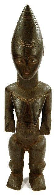 5: A Wood Standing Female Figure, Probably Senufo, Cote