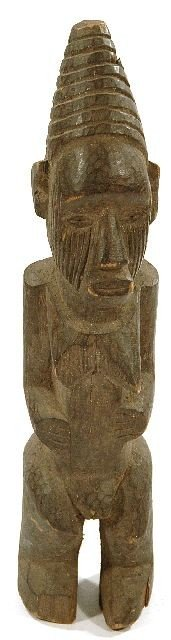 9: A Wood Tribal Style Maternity Carving, Uncertain Ori