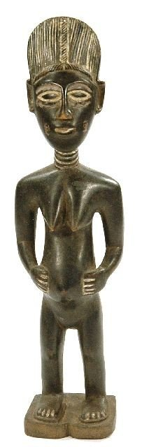 10: A Wood Standing Pregnant Female Figure, Mende, Sier