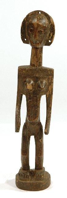 12: A Wood Standing Female Figure, Bamana, Mali,