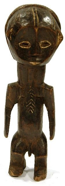 17: A Wood Standing Figure with Enlarged Head, Mumuye S