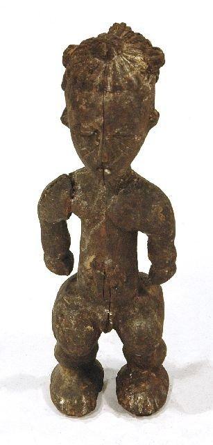 22: A Wood Doll, Baule, Possibly Akan.