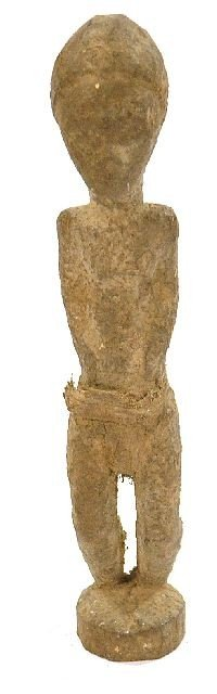 24: A Wood Standing Male Figure with Fragmentary Cloth