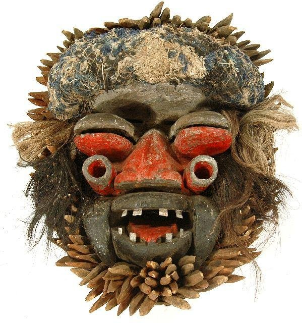 158: A Mixed Media Bush Spirit Mask, Kran, Liberia,