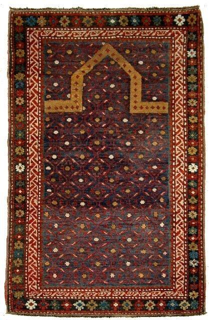 9: An Antique Kazak Caucasian Wool Runner