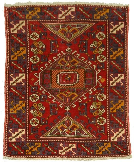 16: An Antique Turkish Bergama Wool Rug