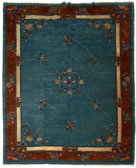 21: An Antique Peking Chinese Wool Rug
