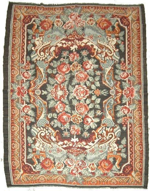 22: An Antique European Kilim Wool Rug