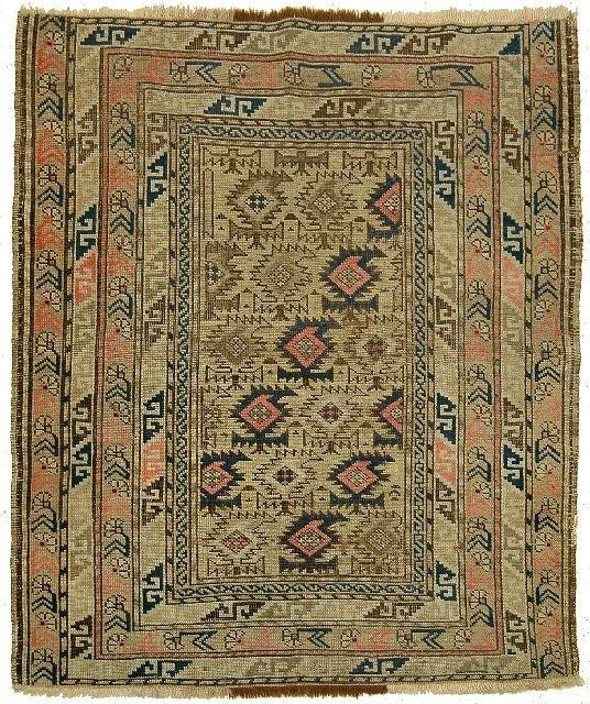 23: An Antique Shirvan Caucasian Wool Carpet