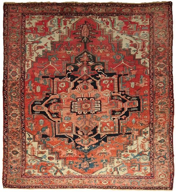 110: An Antique Persian Serapi Wool Rug