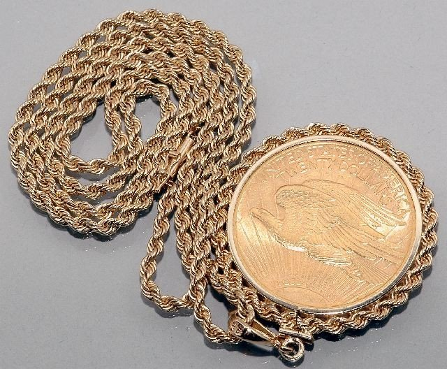 43: A 14kt Yellow Gold Braided Robe Necklace  - 2