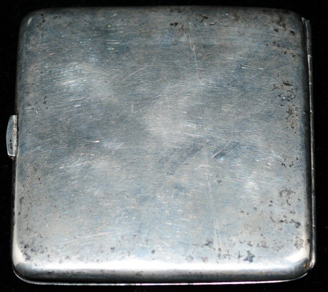 109: Continental Erotic Silver Enamelled Cigarette Case - 3