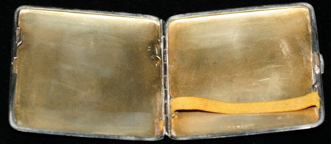 109: Continental Erotic Silver Enamelled Cigarette Case - 7