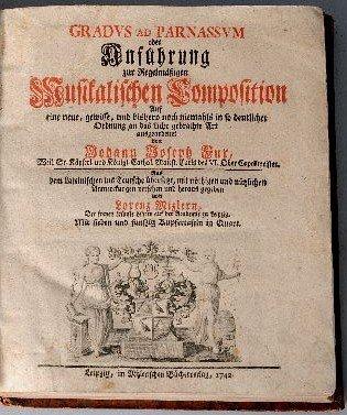56: FUX, Johann Joseph (1660-1741). Gradus ad Parnassum - 2