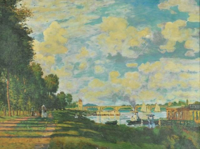 1: Mary J. Randall (Early 20th C) Seine River Scene