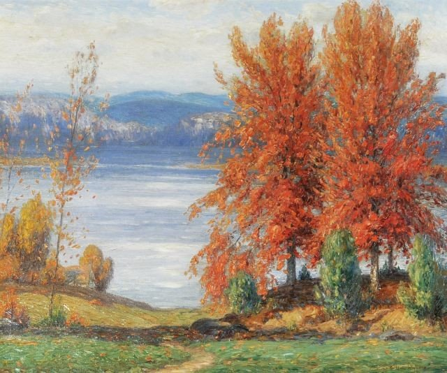 2: Gustave Adolph Wiegand (1870-1957) Autumn Trees, Adi