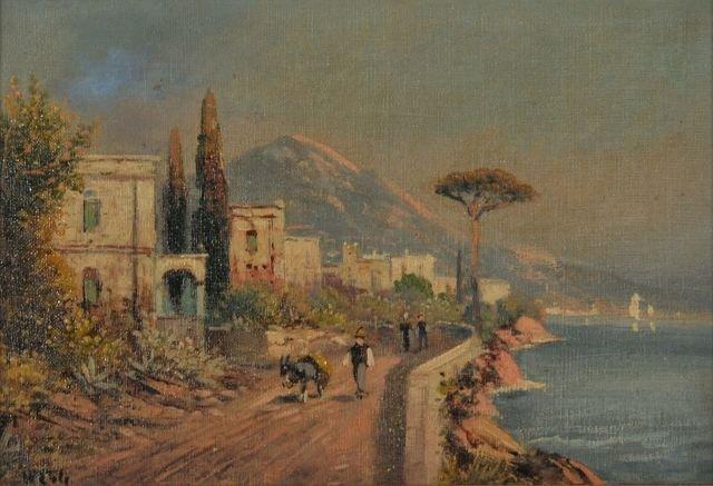 12: W. Cole (20th Century) Coastal Scene, Oil on Board,