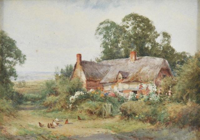 15: Henry Sylvester Stannard (1870-1951) Cottage Scene