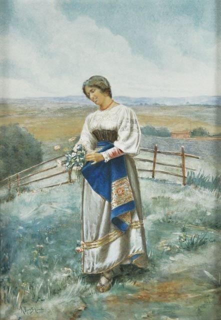 20: Renato Moretti (Italian, 1863-1910) Peasant Woman W