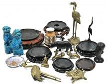 193: A Miscellaneous Collection of Asian Brass and Wood