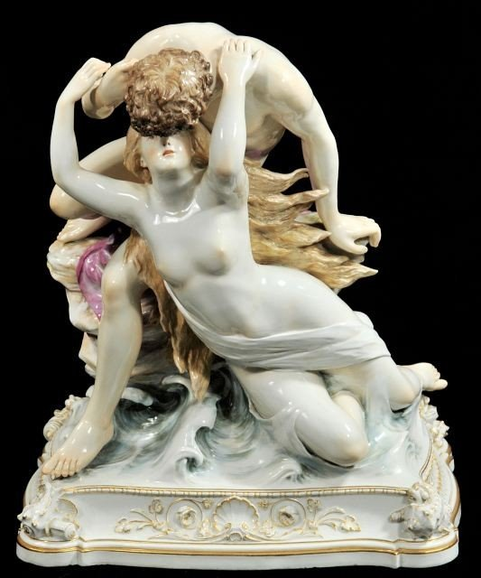 201: A Large Meissen Mythological Figural Group Depicti